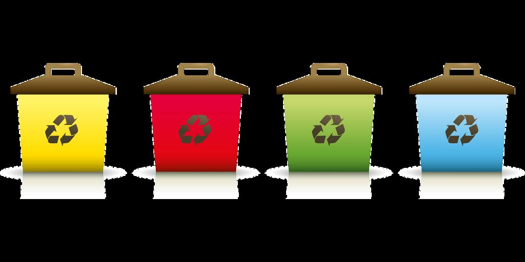 recycling waste bins